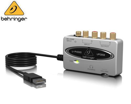 BEHRINGER(ベリンガー)USBオーディオインターフェース UFO202 U-PHONO