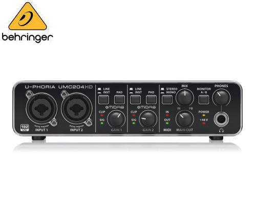 BEHRINGER(ベリンガー)USBオーディオインターフェース UMC204HD U-PHORIA