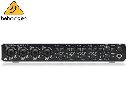 BEHRINGER(ベリンガー)MIDI/USBオーディオインターフェース UMC404HD U-PHORIA