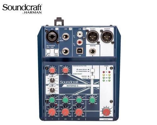 Soundcraft / サウンドクラフト アナログミキサー Notepad-5