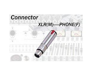 コネクターの変換パーツ☆XLRメス⇔フォンメス(モノ)TDX307(CA307)