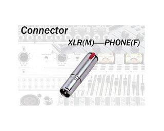コネクターの変換パーツ☆XLRオス⇔フォンメス(モノ) TDX305(CA305)