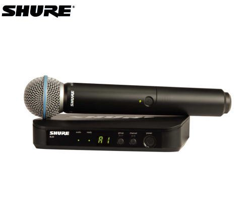 SHURE マイクロホン ワイヤレスセット BLX24/B58