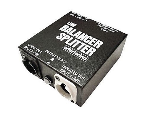 whirlwind 1 IN 2 OUT ラインスプリッターボックス LINE BALANCER/SPLITTER