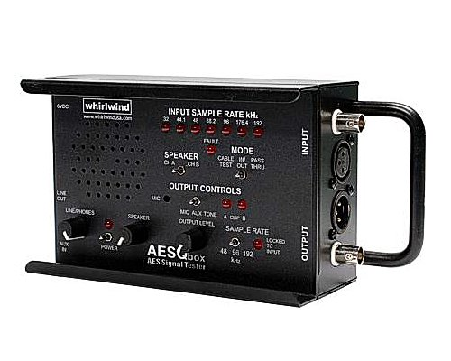 whirlwind  ラインテスター +AES/EBUテスター(サンプルレート48kHz,96kHz) AES Q-BOX