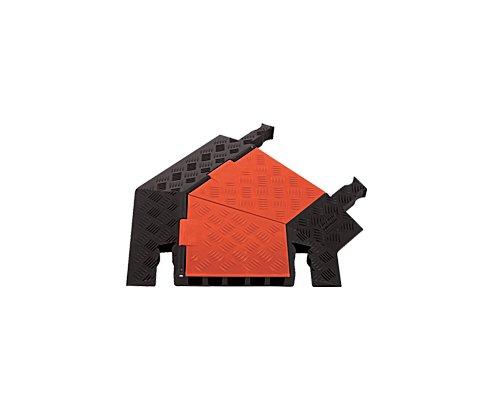 CHECKERS/GUARD DOG 5chヘビーデューティー・ケーブルプロテクター 45°右ターン GDT5X125-R-O/B