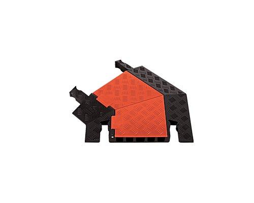 CHECKERS/GUARD DOG 5chヘビーデューティー・ケーブルプロテクター 45°左ターン GDT5X125-L-O/B