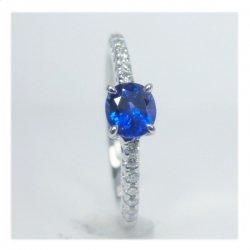ptブルーサファイヤダイヤリングS0.55ctD0.12ct