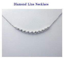 K18WGダイヤモンドラインネックレス 0.54ct