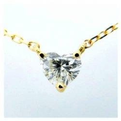 ハートシェイプダイヤモンドネックレス K18YG D 0.14ct
