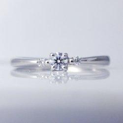 Ptエクセレントダイヤモンドリング0.084ct 0.03ct