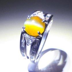 Pt900 クリソベリルキャッツアイ ダイヤモンドリング CE 2.04ct D 0.75ct