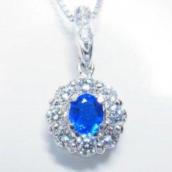 Pt900 アウイナイト ダイヤモンドネックレス 45cm HA 0.09ct D 0.15ct