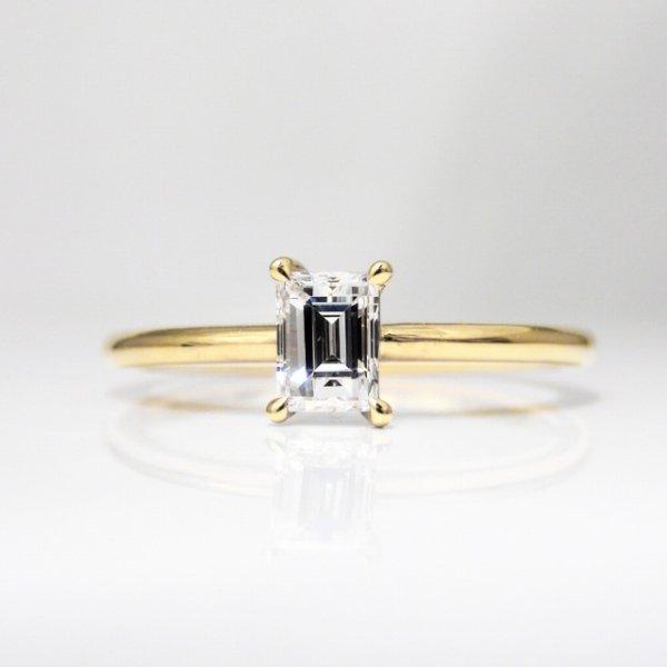 K18YG C-LINE ダイヤモンドリング D 0.33ct E-VS1