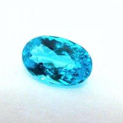 ブラジル産 ネオンブルー パライバトルマリンルース PA 0.44ct 中央宝石研究所鑑別分析書付