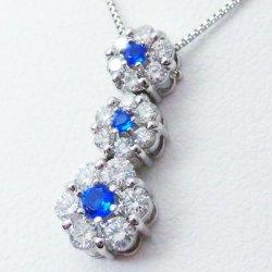 Pt850/900 アウイナイト ダイヤモンドネックレス HA 0.07ct D 0.50ct 45cm スライドアジャスター付