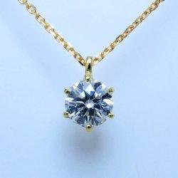 K18YG ダイヤモンドネックレス D 0.554ct G-SI1-VG 中央宝石研究所鑑定書付