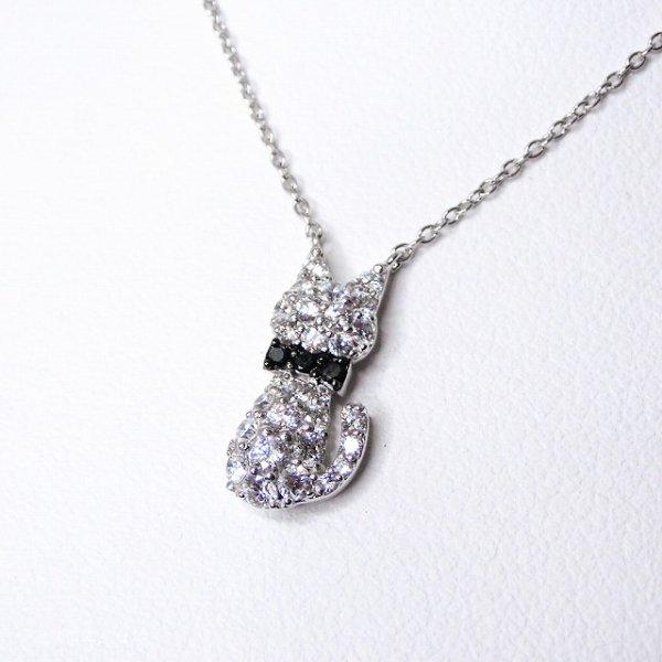 ダイヤモンド ブラックダイヤモンドネックレス D 0.43ct BLD 0.03ct K18WG 45cm