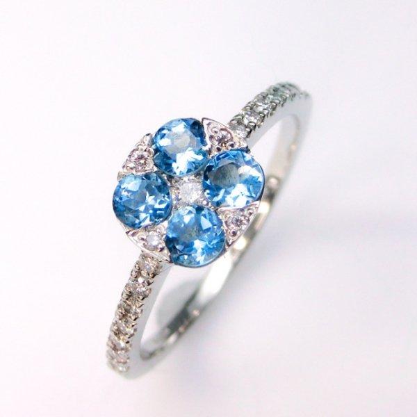 サンタマリアアクアマリン ダイヤモンドリング AQ 0.40ct D 0.25ct Pt900