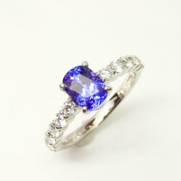 タンザナイト H&Cダイヤモンドリング TA 1.07ct D 0.52ct Pt900