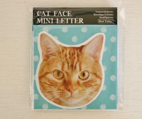 CAT FACE MINILETTER/チャトラ/パインブック
