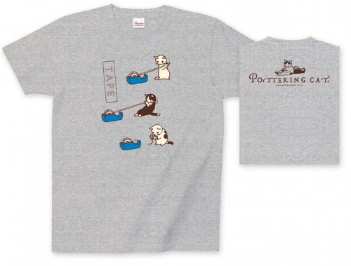 Tシャツ テープ青/ポタリングキャット<img class='new_mark_img2' src='https://img.shop-pro.jp/img/new/icons49.gif' style='border:none;display:inline;margin:0px;padding:0px;width:auto;' />