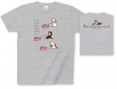Tシャツ テープピンク/ポタリングキャット<img class='new_mark_img2' src='https://img.shop-pro.jp/img/new/icons49.gif' style='border:none;display:inline;margin:0px;padding:0px;width:auto;' />