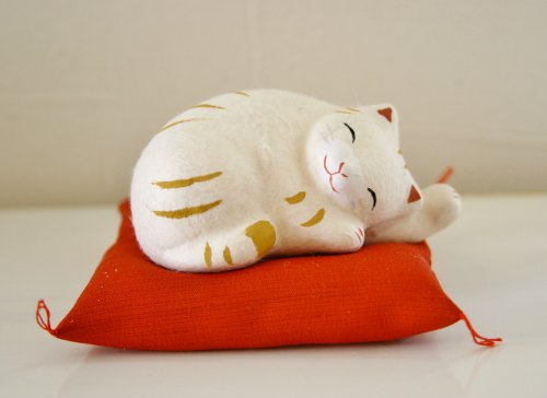 ちぎり和紙 ねむり猫/リュウコウドウ/茶トラ猫