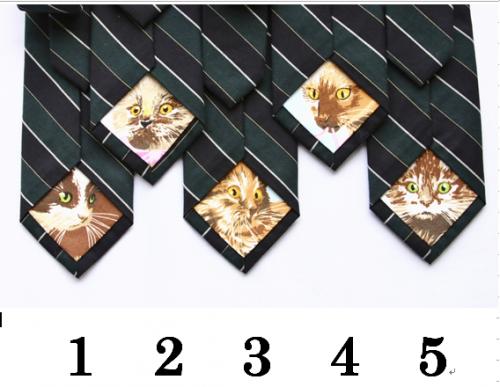 隠れネコタイ グリーン/kitten's ribbon