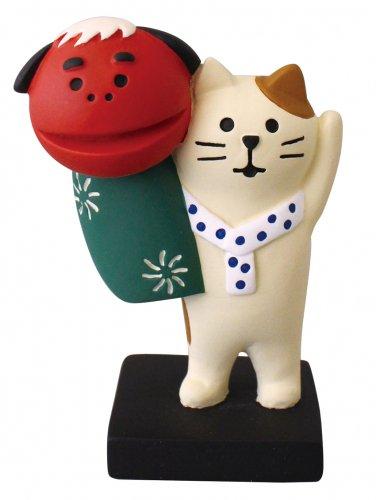 正月/獅子舞猫/デコレ/concombre