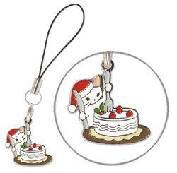 ストラップ クリスマス/ポタリングキャット