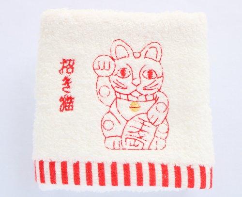 ハンドタオル/招き猫/京東都