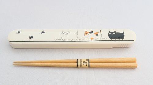 猫三兄弟/箸ケース/箸付き