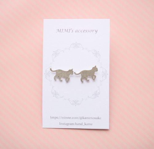 ◆ハンドメイド◆MIMI's accessory/ピアス/お散歩ネコ