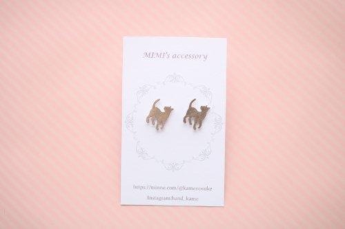 ◆ハンドメイド◆MIMI's accessory/ピアス/ふり向きネコ