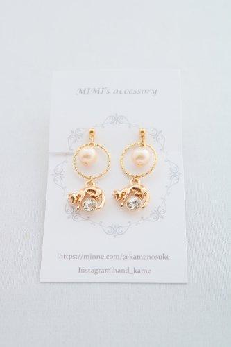 ◆ハンドメイド◆MIMI's accessory/イヤリング/ピンクパール