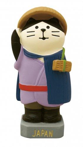旅猫世界一周旅行/世界のマスコット・日本/ピンバッジ付/デコレ/concombre