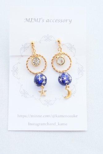 ◆ハンドメイド◆MIMI's accessory/イヤリング/月と星