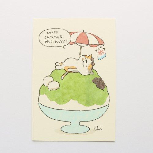 かき氷 抹茶/ポストカード/necoya