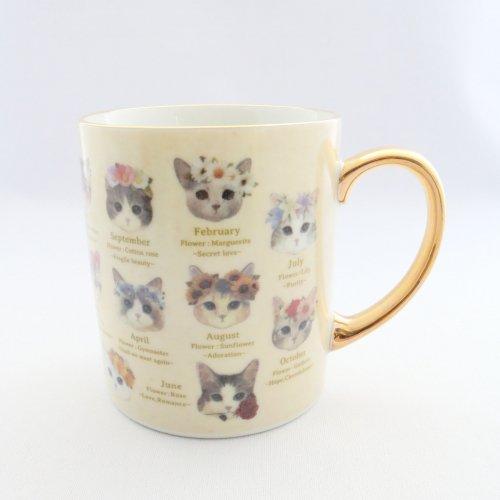 マグカップ/fleurs&chats/とことこサーカス