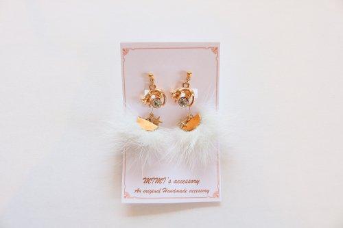 ◆ハンドメイド◆MIMI's accessory/イヤリング/グレーファー