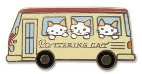 ピンバッジ バス/ポタリングキャット