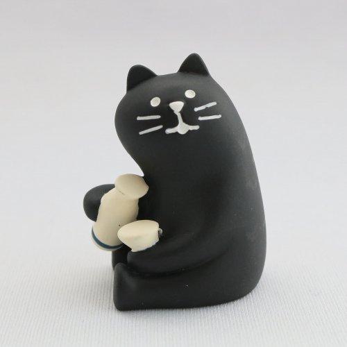 手酌黒猫/デコレ/concombre