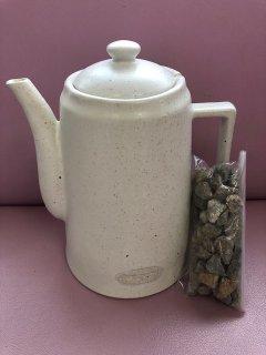 いつでも簡単天然鉱物きららの石で美味しいミネラル水ができちゃう♪ 素焼ききららポット  きららの石250付き