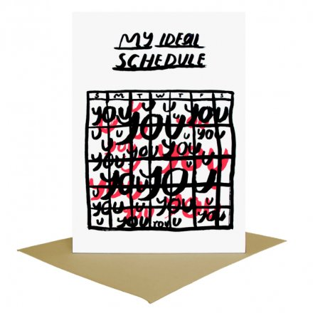 POST CARD Ideal schedule (サイズM)