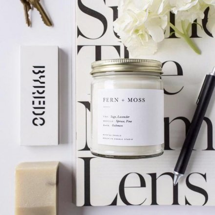 MINIMALIST CANDLES / 8.0oz FERN + MOSS