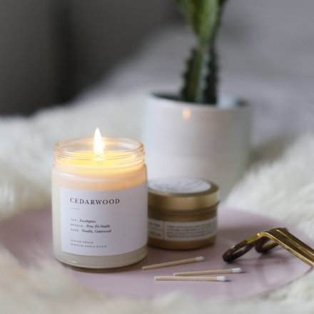 MINIMALIST CANDLES / 8.0oz CEDARWOOD