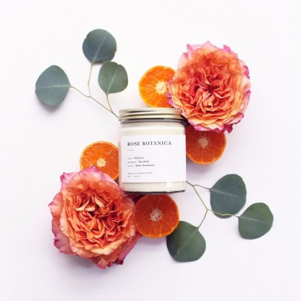 MINIMALIST CANDLES / 8.0oz ROSE BOTANICA