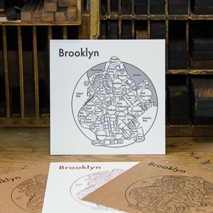 LETTER PRESS PRINT BROOKLYN (black on white)