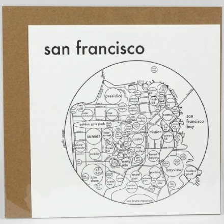 LETTER PRESS PRINT SAN FRANCISCO (black on white)